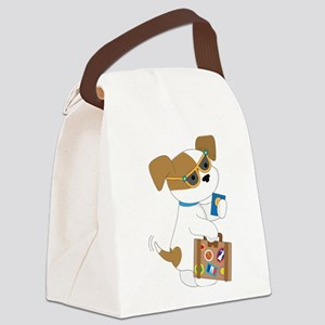 Cute Puppy Travel Canvas Lunch Bag