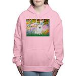 Eskimo Spitz 1 - Garden Women's Hooded Sweatsh