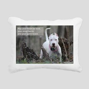 Brave Spirit - Dogo Arge Rectangular Canvas Pillow