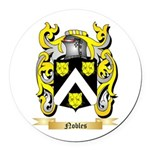 Nobles Round Car Magnet