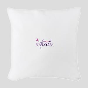 Power to Exhale Woven Throw Pillow