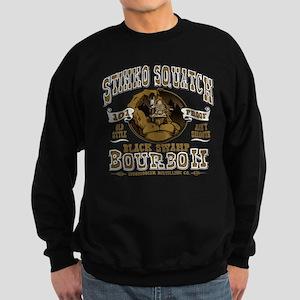 Stinks Squatch Black Swamp Bourbon Sweatshirt