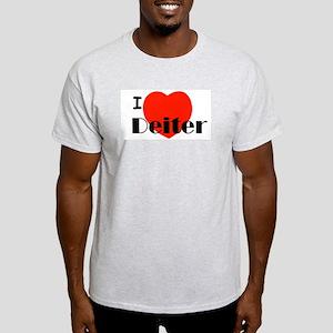 I Love Deiter Ash Grey T-Shirt