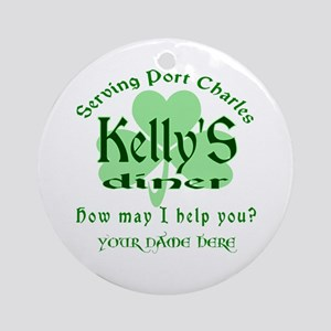 Kellys Diner General Hospital Name Badge Round Orn