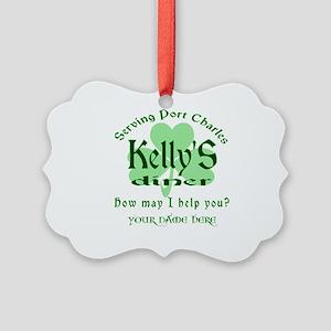 Kellys Diner General Hospital Name Badge Ornament