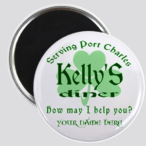 Kellys Diner General Hospital Name Badge Magnets