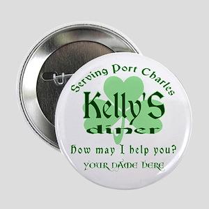 """Kellys Diner General Hospital Name Badge 2.25"""" But"""