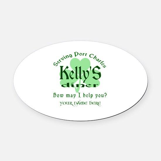 Kellys Diner General Hospital Name Badge Oval Car