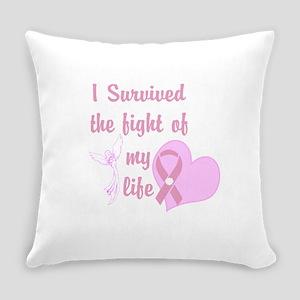 Breast Cancer Survivor Pink Heart Angel Everyday P