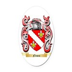 Nisea Oval Car Magnet