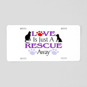 Love & Rescue Aluminum License Plate