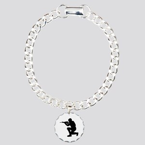 Soldier weapon Charm Bracelet, One Charm