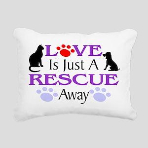 Love & Rescue Rectangular Canvas Pillow