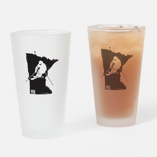 Ski Minnesota Drinking Glass