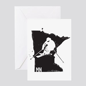 Ski Minnesota Greeting Card
