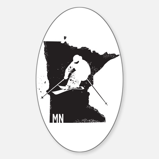 Ski Minnesota Sticker (Oval)