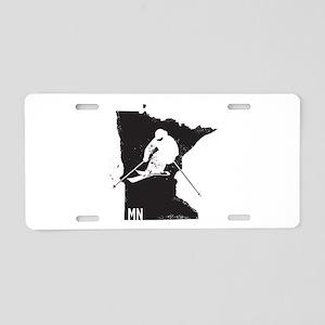 Ski Minnesota Aluminum License Plate