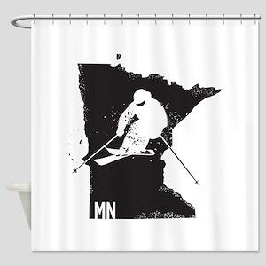 Ski Minnesota Shower Curtain