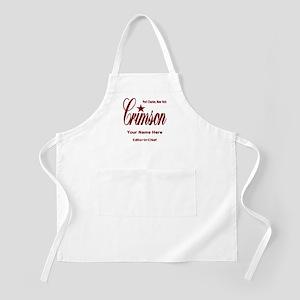 Crimson Editor-in-Chief Customized Apron