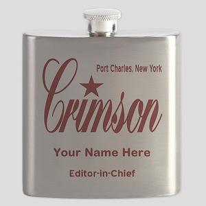 Crimson Editor-in-Chief Customized Flask