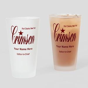 Crimson Editor-in-Chief Customized Drinking Glass