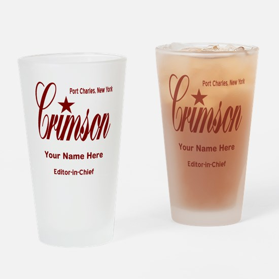 Crimson Editor-in-Chief Customized Drinking Glass