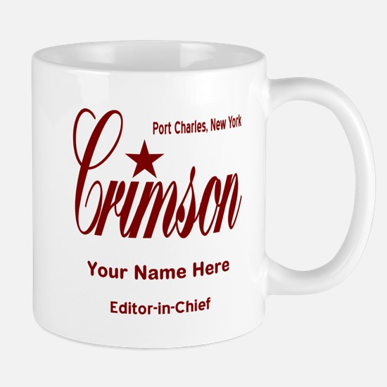 Crimson Editor-in-Chief Customized Mugs