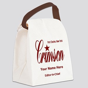 Crimson Editor-in-Chief Customized Canvas Lunch Ba