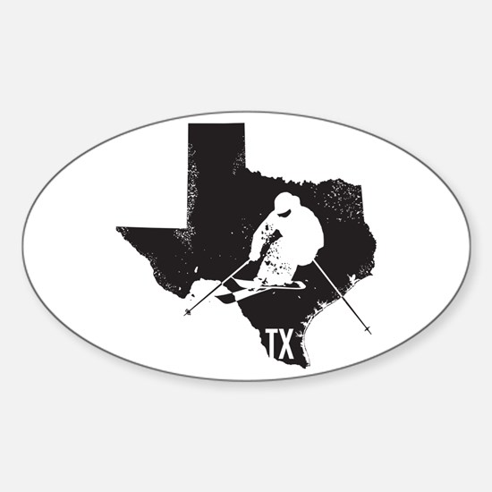 Ski Texas Sticker (Oval)