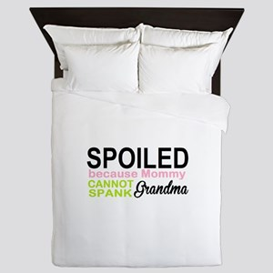 spoiled by grandma Queen Duvet