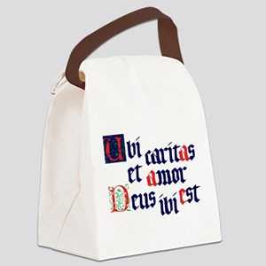 Ubi caritas Canvas Lunch Bag
