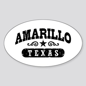 Amarillo Texas Sticker (Oval)