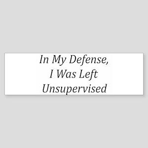 In My Defense Bumper Sticker
