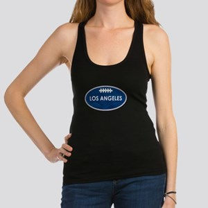 Los Angeles football blue and w Racerback Tank Top