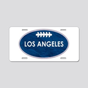 Los Angeles football blue a Aluminum License Plate