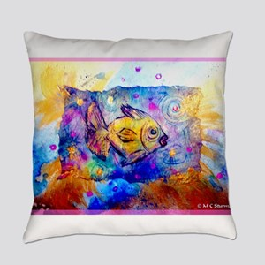 Fish, colorful, art! Everyday Pillow