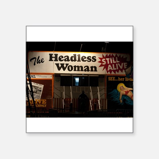 Headless Woman Sticker