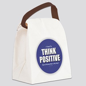 Think Positive Canvas Lunch Bag