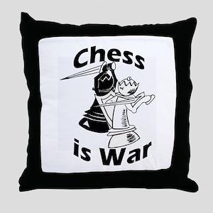 Chess is War Throw Pillow