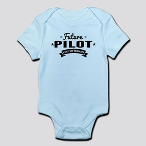 Future Pilot Like My Mommy Body Suit