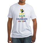 Keep Calm and Celebrate Autism Fitted T-Shirt