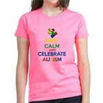 Keep Calm and Celebrate Autis Women's Dark T-Shirt