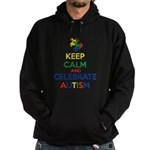 Keep Calm and Celebrate Autism Hoodie (dark)