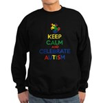 Keep Calm and Celebrate Autism Sweatshirt (dark)