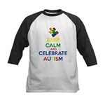 Keep Calm and Celebrate Autis Kids Baseball Jersey