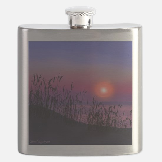 Sunrise on the Great Lakes Flask