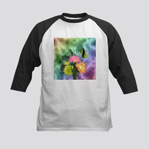 Painted Daisies and Butterfly Baseball Jersey