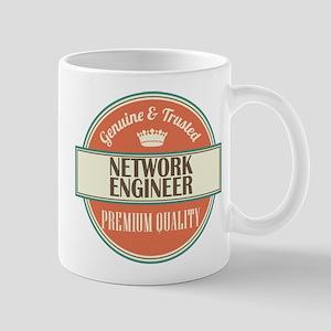 network engineer vintage logo Mug