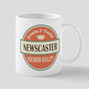 newscaster vintage logo Mug