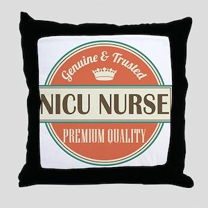 nicu nurse vintage logo Throw Pillow